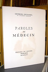 Paroles de médecin - Duhamel Georges