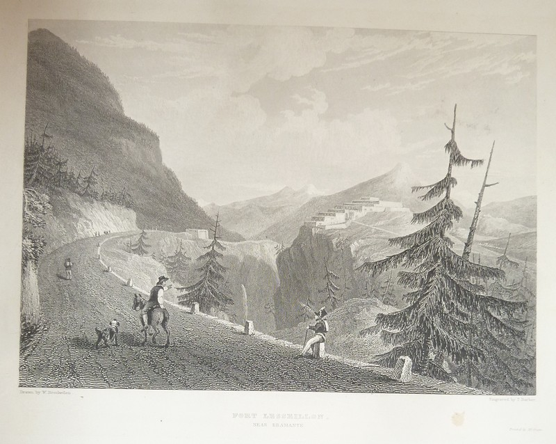 Fort Leseillon, near Bramante (gravure) - Brockedon W.