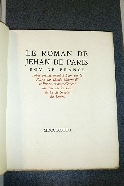 Le Roman de Jehan de Paris, Roy de France - Jehan de Paris