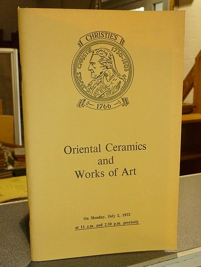 livre ancien - Oriental Ceramics and Works of Art. Christie's, July 2, 1973 -