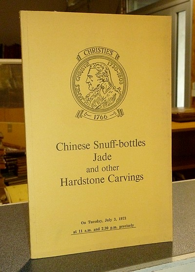 livre ancien - Chinese Snuff-bottles, Jade and other Hardstone Carvings. Christie's, July 3, 1973 -