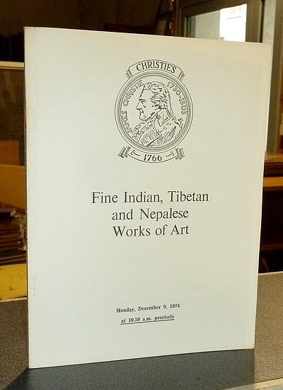 livre ancien - Fine Indian, Tibetan and Nepales Works of art. Christie's, December 9, 1974 -