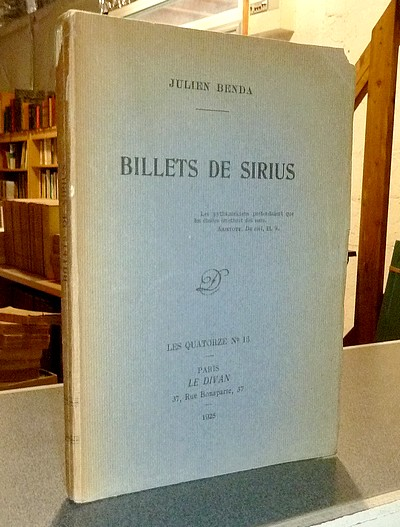Billets de Sirius - Benda, Julien