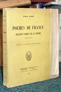 Poèmes de France. Bulletin lyrique de la guerre (1914-1915) - Fort Paul