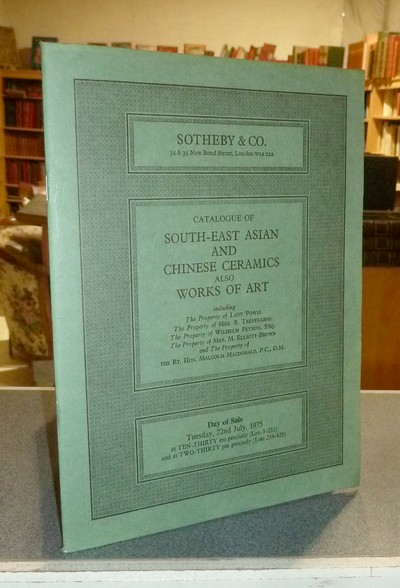 Catalogue of South-east asian and chinese ceramics also works of art. Sotheby & Co, 22nd july 1975 -